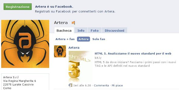 Il Nostro account Facebook
