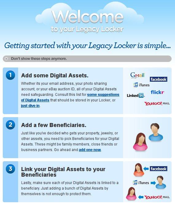 Legacy Locker, il tuo testamento online