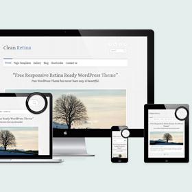 Clean Retina: un tema WordPress responsive