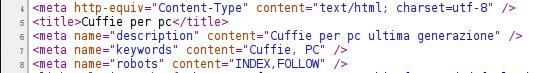 codice meta tag
