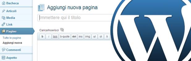 Pagine personalizzate in WordPress