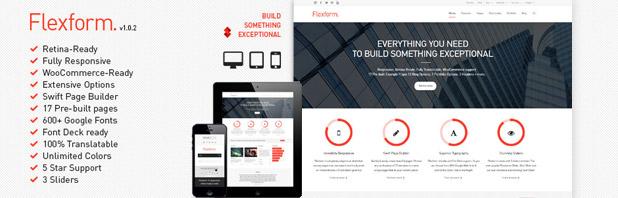 Flexform, il tema multiuso responsive e retina ready