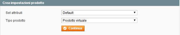 prodotto virtuale passo 1