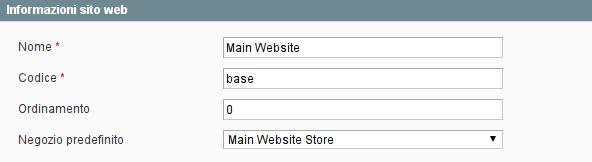 codice sito