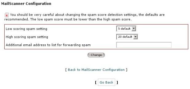 Configurazione MailScanner
