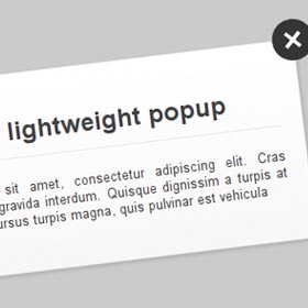 Realizzare un popup lightweight in CSS3 e jQuery