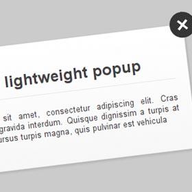 Realizzare un popup lightweight in CSS3 e jQuery