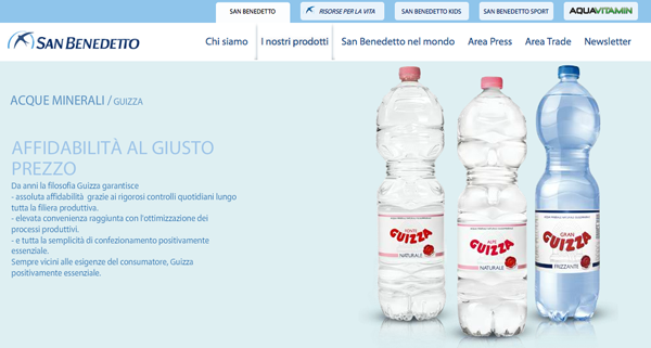 acqua guizza packaging