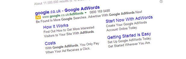 I sitelink dinamici su Google AdWords