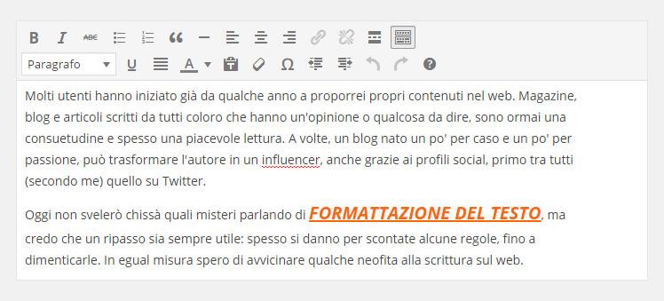 Il copywriting e le regole di formattazione del testo