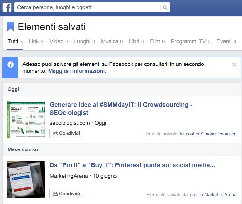 elementi salvati Facebook 3
