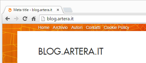 Meta Title nel browser