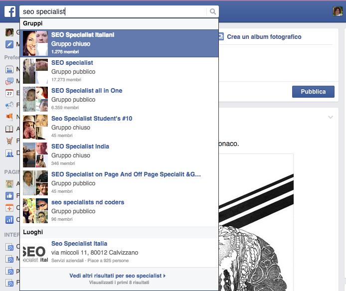 Facebook SEO Specialist