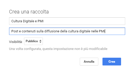 raccolte di Google Plus 2