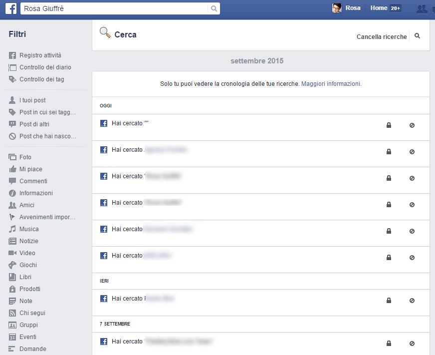 come vedere cronologia facebook iphone