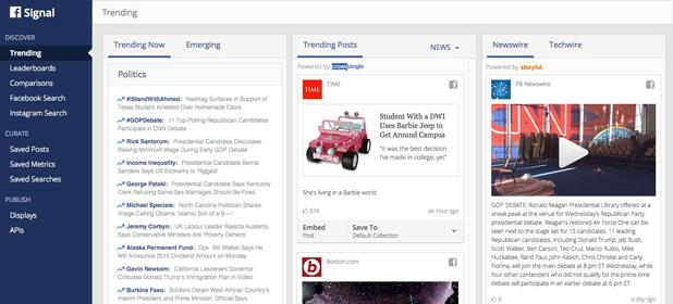 Facebook Signal sfida Twitter sul fronte notizie
