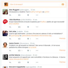 Nuovi esperimenti sulla timeline di Twitter