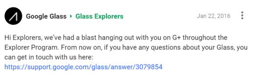 Google cancella i Google Glass