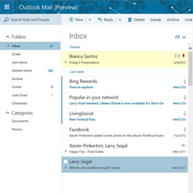 Nuova infrastruttura, funzionalità e add-in per Outlook.com