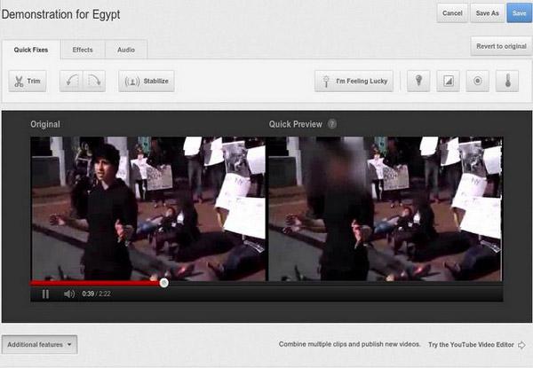 Oscuramento volti su Youtube