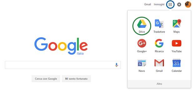 Aprire un'app Google