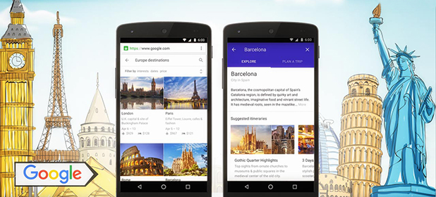 Scegliere la vacanza perfetta con Google Destinations