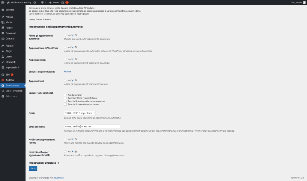 WordPress AutoUpdater